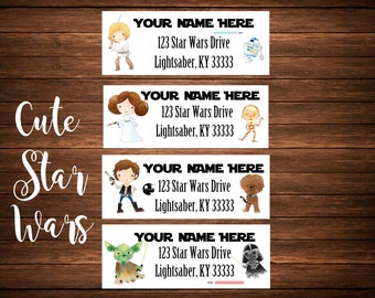Space Character Address Labels, Mailing Labels