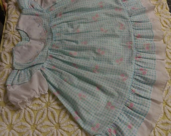 Vintage MAYFAIR Dress Size 4T For Toddler or Patty Play Pal Size Doll  Cotton Dress  Dress Vintage