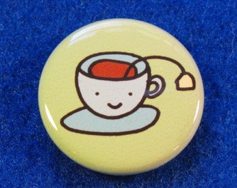 Tea Time One Inch Button