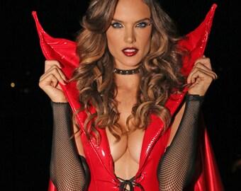 Red Devil Horns, Devil Horn Headband, Swarovski Crystal, Hair Accessory, Halloween Costume, Hair Accessory, Headband, Clip In