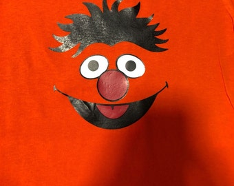 Ernie face Sesame Street inspired T-shirt, MORE CHARACTERS AVAILABLE!