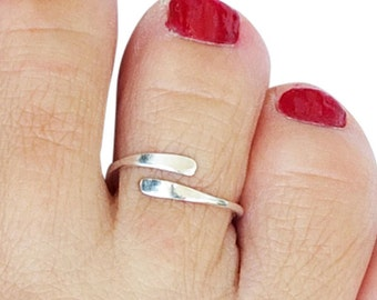 Sterling Silver Toe Ring, Silver Midi Ring, Mid Finger Ring, Knuckle Ring, Adjustable Ring, Simple Ring, Silver Ring, Small Ring,