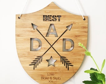 Personalised Best Dad Bamboo Wall Hanging