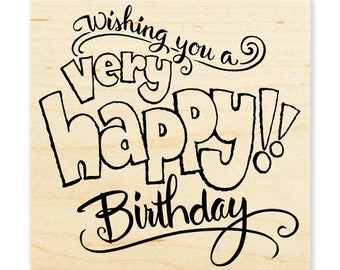Birthday Stamp, Stampendous, Great Big Happy, Rubber Stamp, Card Making, Paper Craft