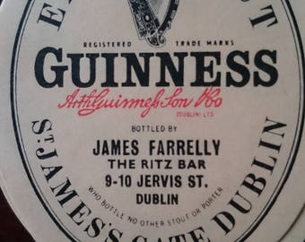 Guinness Irish  beer lables from 50's / 60's