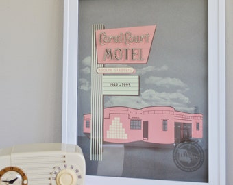 Icons of St. Louis Modernism Print Coral Cour Motel