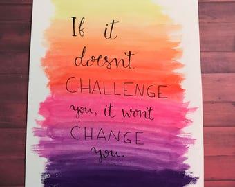 Challenge Calligraphy Art