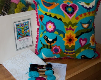 Mexican Tree of Life needlepoint kit