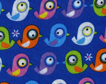 Timeless Treasures Blue Birds Organic Cotton Fabric by the Yard