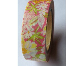 Japanese Washi Masking Tape - Blossoming 01 - 11 yards