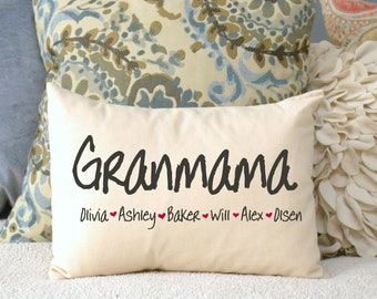 Personalized Pillow,  Mothers day gift, Mom Gift, Christmas mom, Grandmother Gift, Grandparents day, Gift for her,