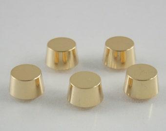 10 pcs.Gold Round Flat Head Screwback Studs Leathercraft Decorations Findings 11x8 mm. BS G 109 SCB 9507
