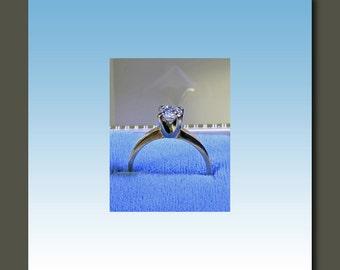 Transitional Cut 5/8 Carat Vintage Diamond Solitaire Ring c.1950