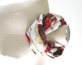 Green Infinity Scarf - Chain Print Scarf - Olive Green Infinity Scarf - Chain Scarf