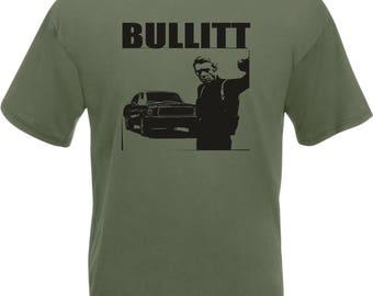 Steve McQueen Bullitt T-Shirt - Classic Film, Various Colours & Sizes
