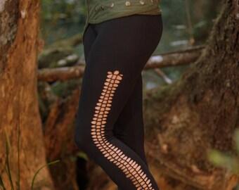 Bohemian Leggings (Black) - Festival Clothing Bohemian Full Length Leggings Yoga Sexy Fairy Festival Vintage Gypsy Stretchy Cotton Boho