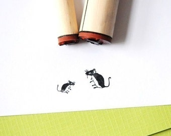 Mice Rubber Stamp Set