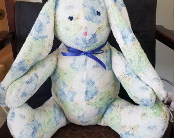 A Terry cloth cuddly bunny