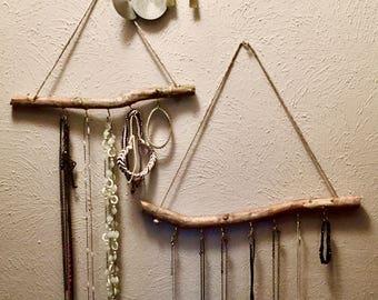 Bohemian Jewelry Display, Handmade, Branch jewelry holder, Jewelry Storage, Boho Decor