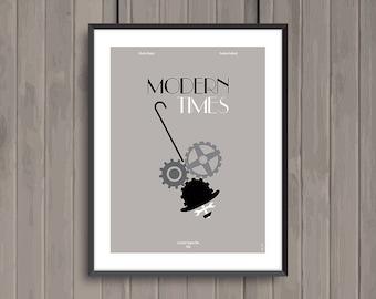 MODERN TIMES, minimalist movie poster