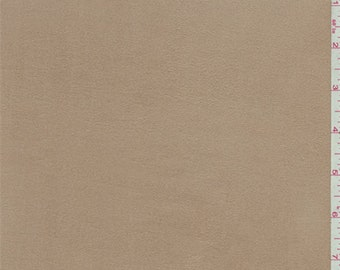 Tan Microsuede Knit, Fabric By The Yard