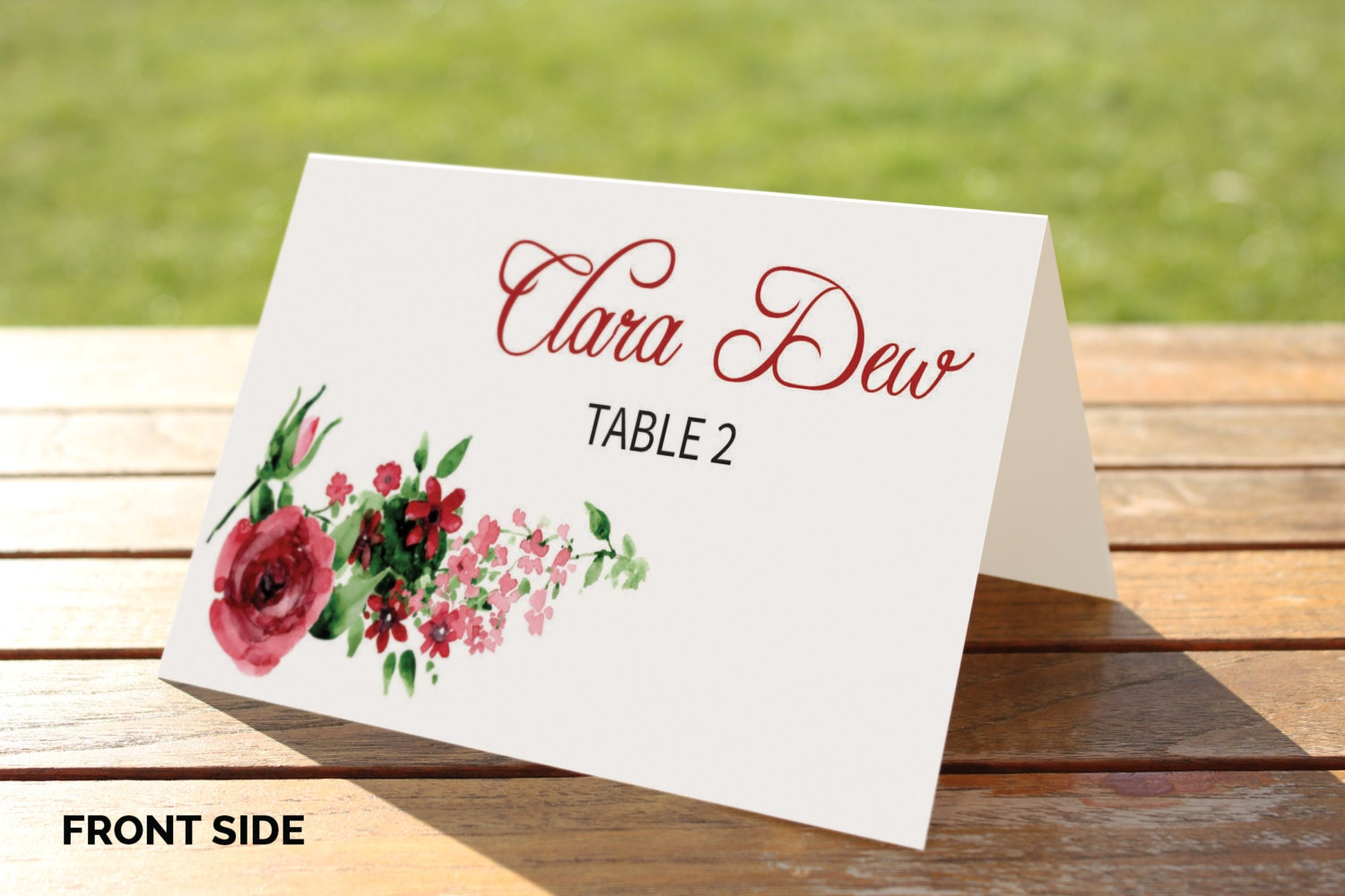 It is a picture of Luscious Printable Place Cards Template
