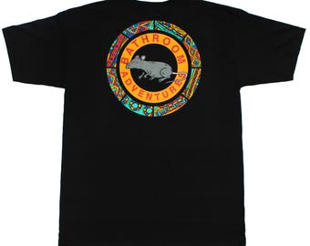 Porcelain Bathroom Adventures T Shirt- Black
