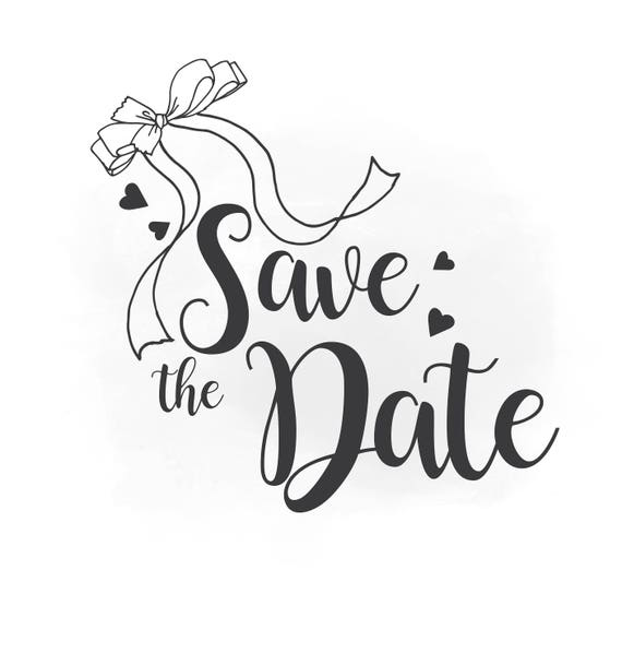 save the date svg clipart wedding annuncment save the date rh etsy com save the date clip art christmas save the date calendar clip art