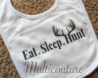 Baby Bib: Eat.Sleep.Hunt