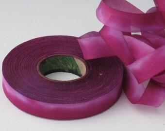 Hand Dyed SILK Bias-Cut RIBBON