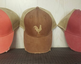 Red Rooster Distressed Cap