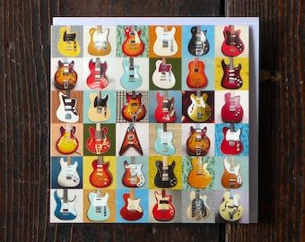 Electric Guitars   Greeting Card   Male Birthday Card   Collections Greetings Card   Photographic Card for Him   Musical Instruments Card  