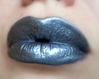 Thunderstorm -  Metallic Grey / Dark Silver Lip gloss - Vegan - Gluten Free - Fresh - Handmade Cruelty Free