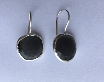 Grey Stone Earrings.