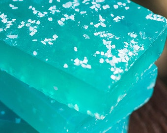 Island Breeze Soap Infused with Sea Salt - Handmade Glycerin Soap // Gifts for Her