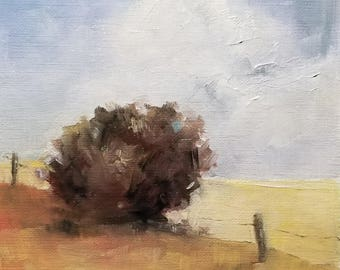 "Country Summer Oil Painting 5x5""  Original"