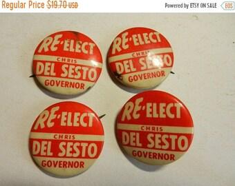 Spring Sale 4 Vintage Re Elect Desesto Political Campaign Buttons