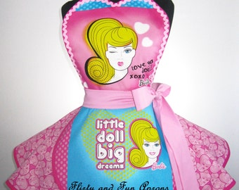 Retro Pink Barbie Apron