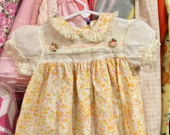 70s Baby Dress 6/9 Months