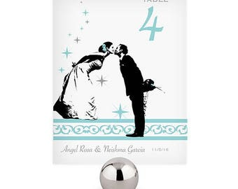 Vintage Hollywood Personalized Wedding Table Numbers