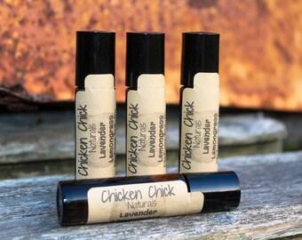 Handmade Perfume Oil Roll On - Lavender Lemongrass - Light and refreshing