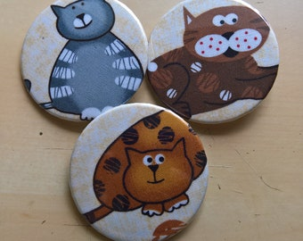 Fat Cat Button Set