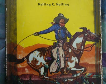 VINTAGE - The Book of Cowboys  by Holling C. Holling (Hardcover – 1936)