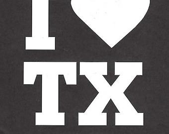 I love Texas car/truck decal sticker - 165