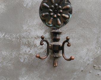 Handle With Hooks, Vintage Metal Door Knob With Hanger, Retro Russian Door  Knob And