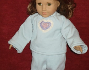 """jogging suit to fit any 18"""" doll"""