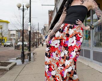 1970's boho hippie long skirt