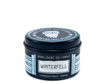 Winterfell - 2 oz Mini Book Lovers' Soy Candle -  Book Lover Gift - Scented Soy Candle - Frostbeard Studio