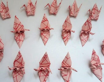 Set of origami cranes: Collection draft