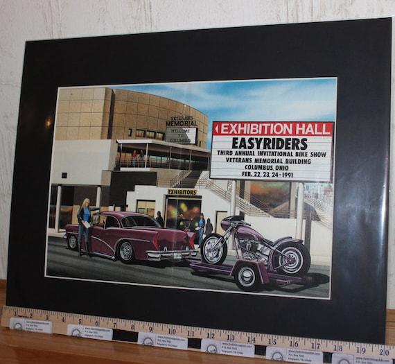 "David Mann ""Easyriders 3rd Bike Show"" 16"" x 20"" Matted Motorcycle Biker Art #9102ezrxm"
